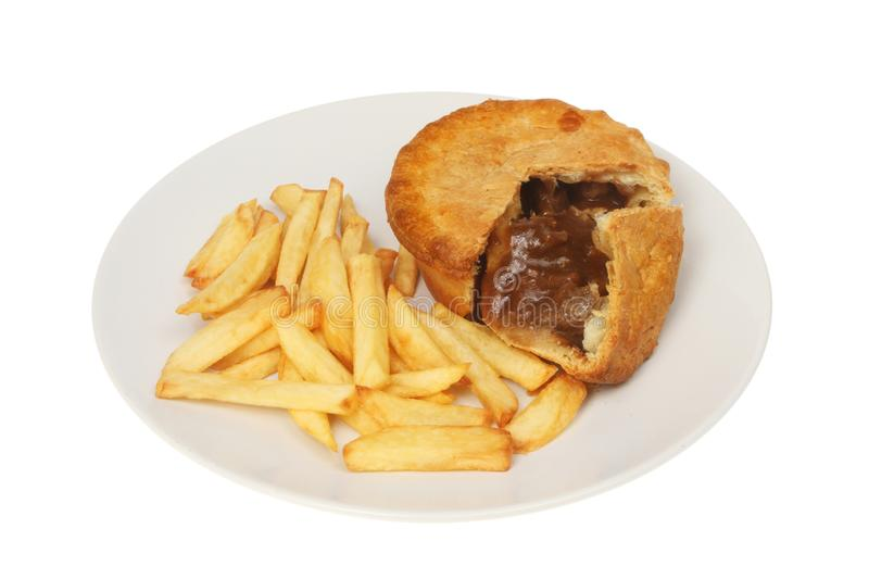 Steak pie and chips stock image. Image of chip, gravy ...