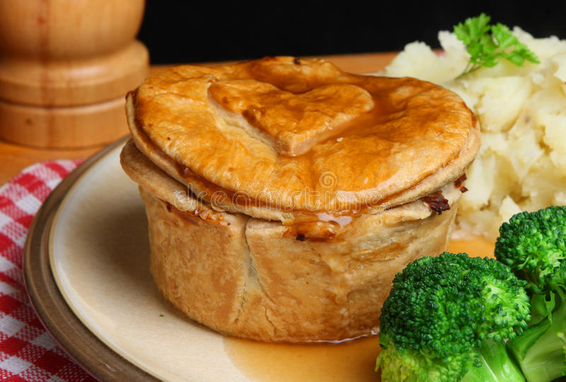 Download Steak Pie Meal stock photo. Image of crust, individual - 17901944