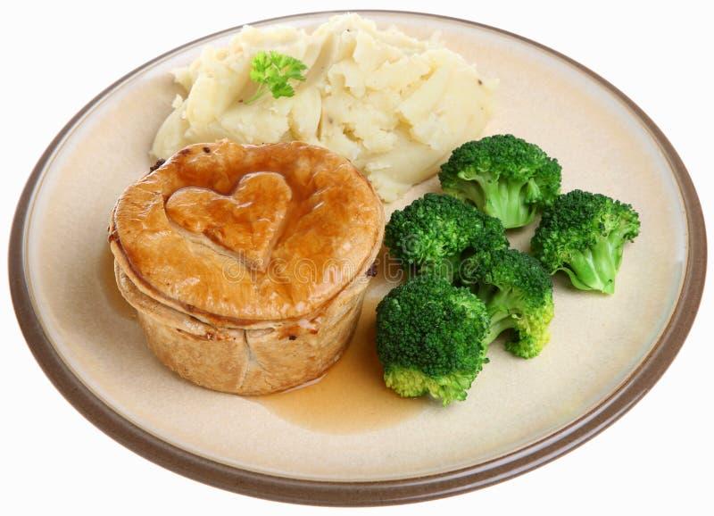 Steak Pie Meal Royalty Free Stock Image