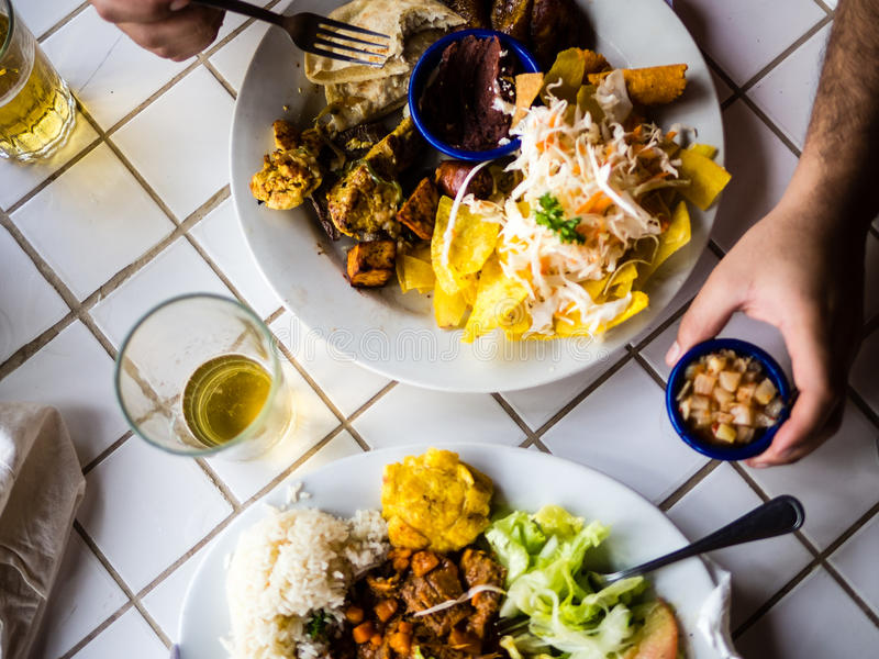 Niacaragua meal of the day stock photos