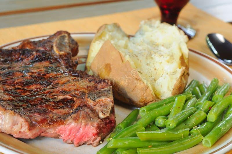 Steak and potato stock image