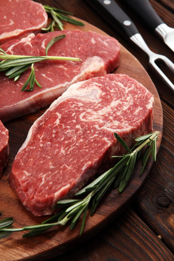 Steak raw. Barbecue Rib Eye Steak, dry Aged Wagyu Entrecote Steak. Steak raw. Barbecue Rib Eye Steak, dry Aged Wagyu Entrecote. Variety of Raw Black Angus Prime royalty free stock photography