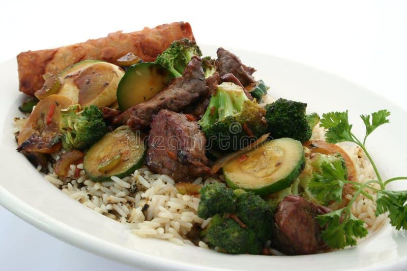 Steak stir fry stock image