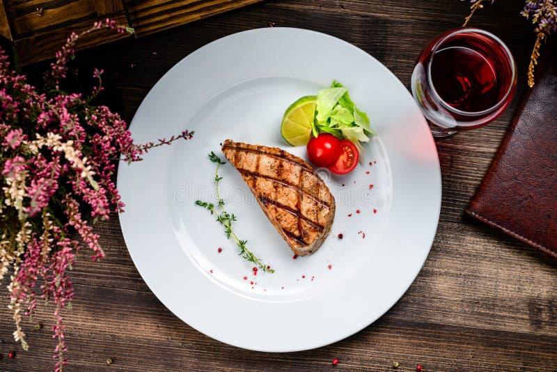 Steak tuna grill bbq stock photo