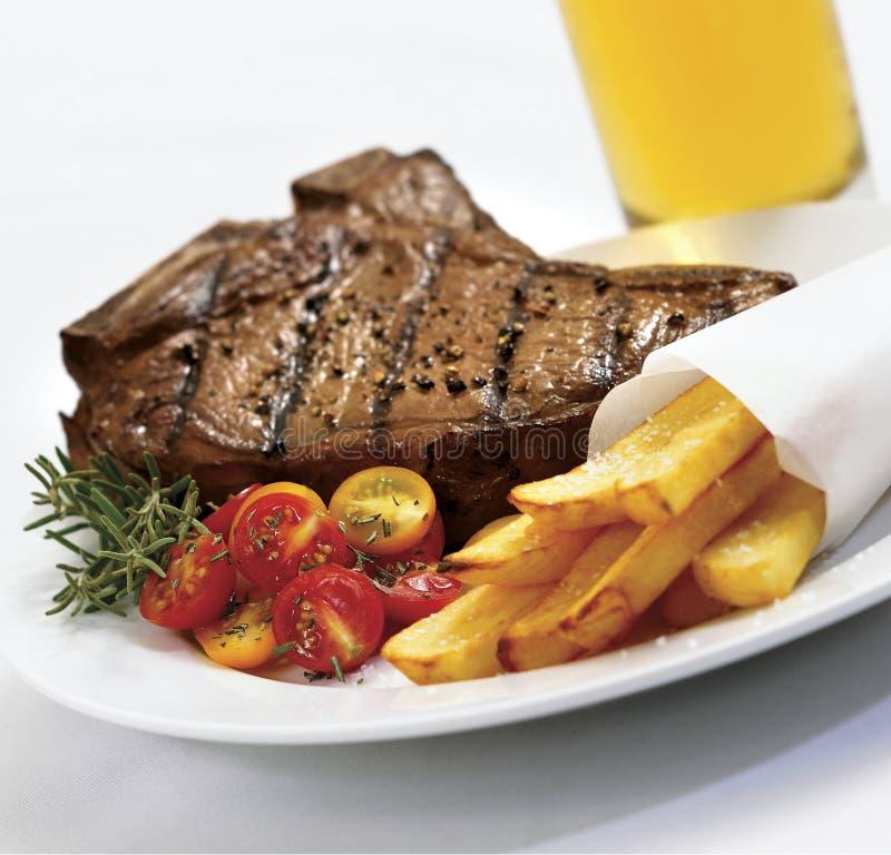 Steak und Fischrogen lizenzfreie stockbilder