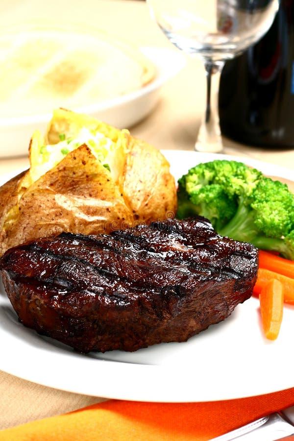 steakanbud royaltyfri foto