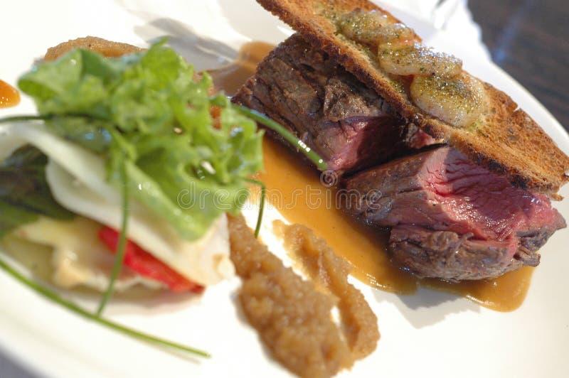 Steakfeinschmeckerart stockfoto