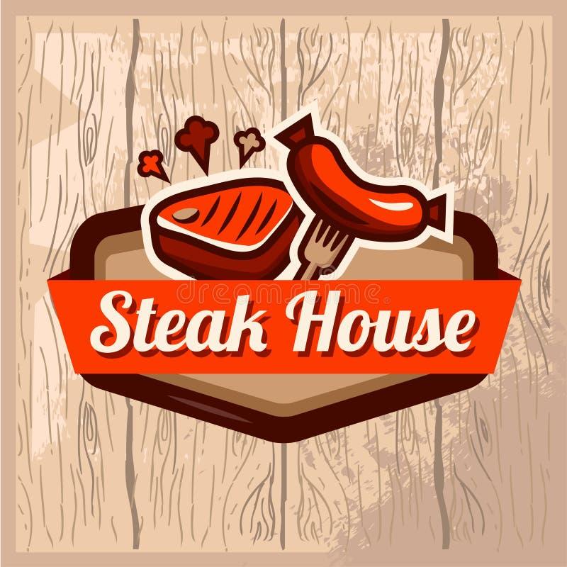 Steakhauslogo stock abbildung