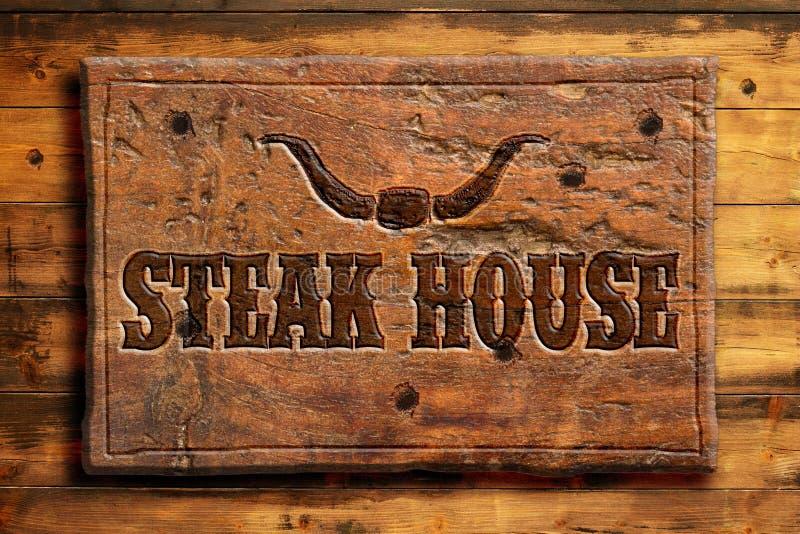 steakhouse ilustracja wektor