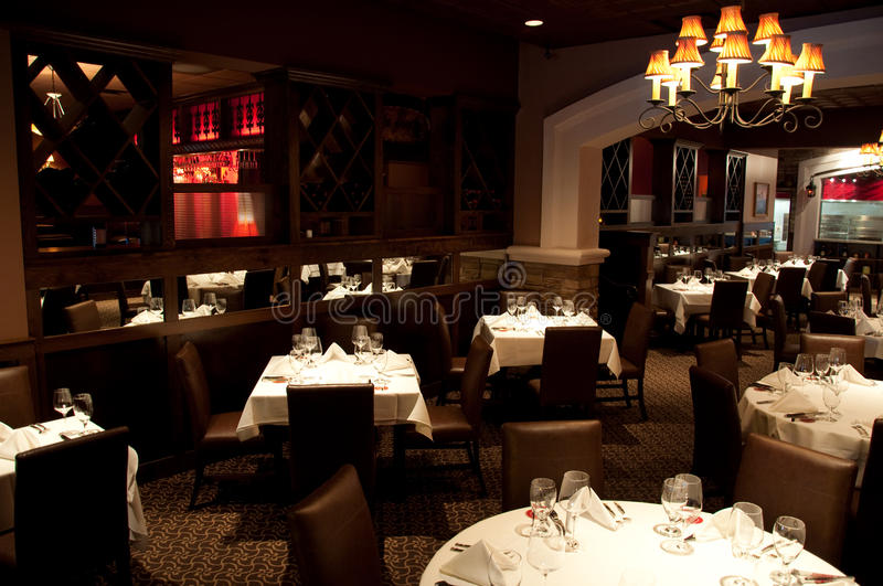 Steakhouse Dining Room royalty free stock photography