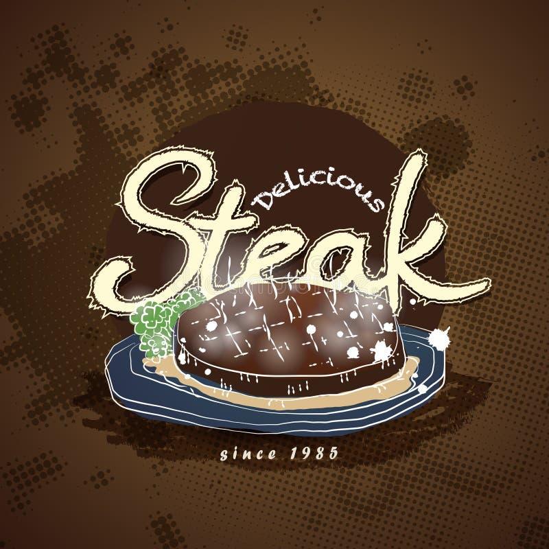 Steakhouse menu royalty ilustracja