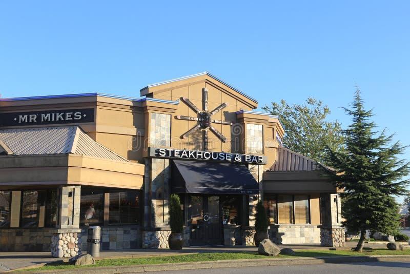 Steakhouse und Barrestaurant lizenzfreie stockbilder