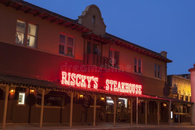 Steakhouse van Riscky in Fort Worth Texas, de V.S. royalty-vrije stock foto
