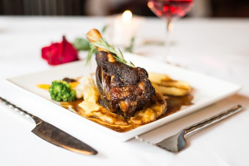 Steaklammschaft lizenzfreie stockfotografie