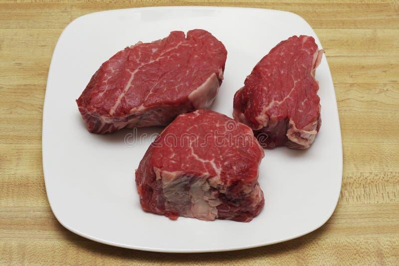 steaks för filetmignon arkivfoto