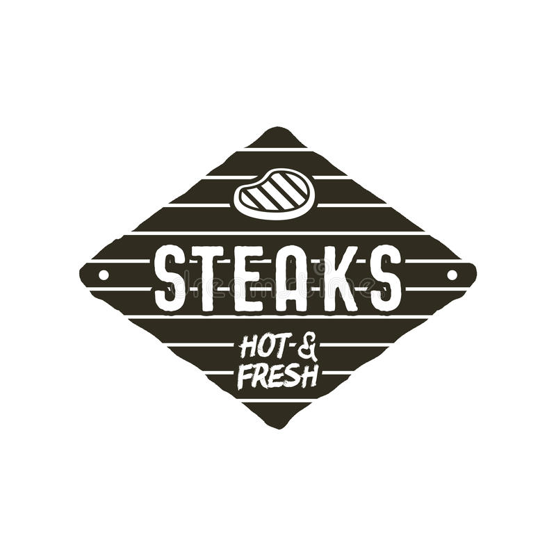 steaks old style patch rustic design bbq badge template stock