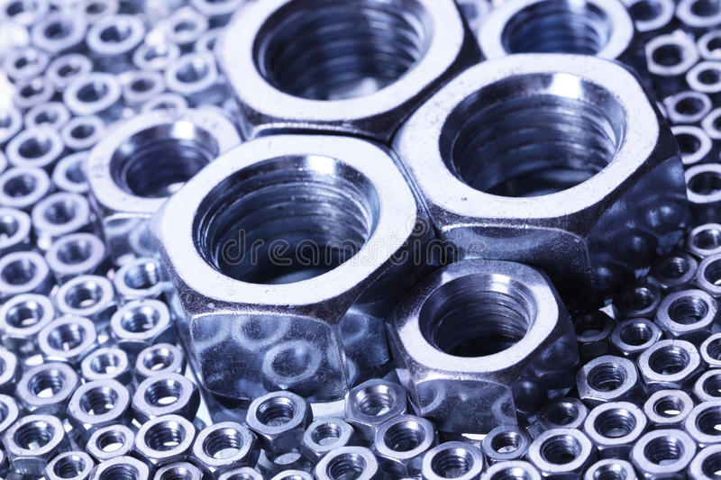 Download Steal Nuts And Screws On Mirror Stock Photo - Image: 17821020