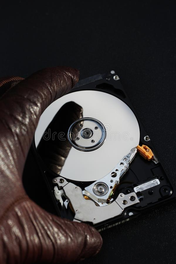 Stealing computer information royalty free stock images