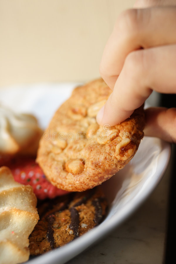 Stealing Cookies. stock images
