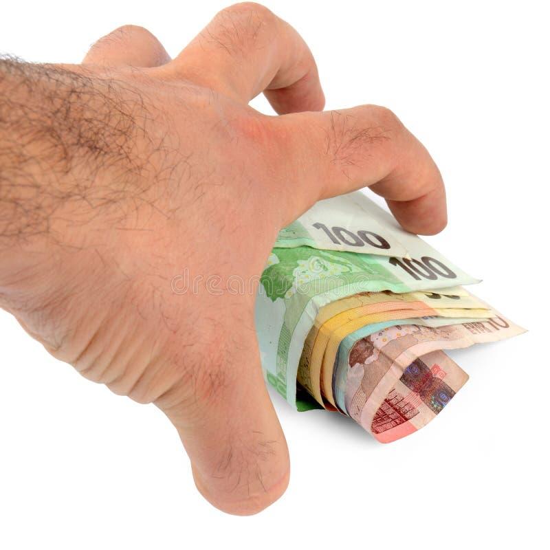 Stealing geld royalty-vrije stock afbeelding