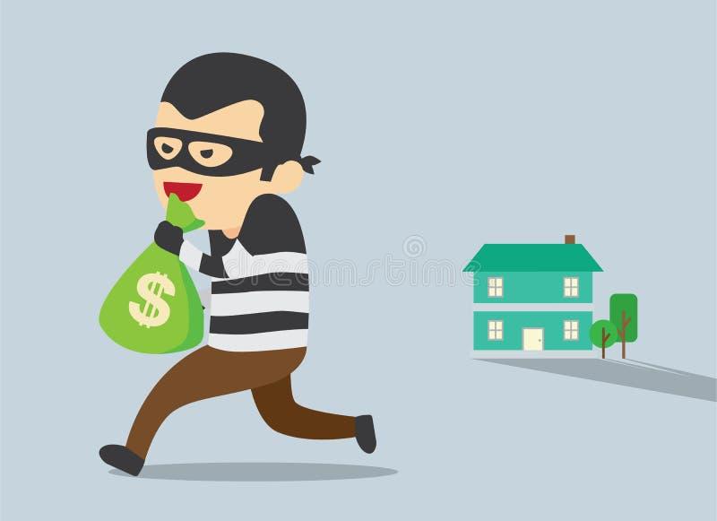 Stealing Geld vector illustratie