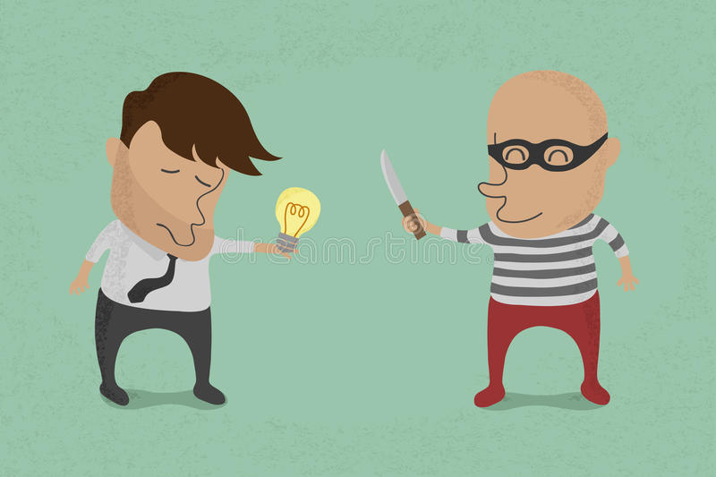 Download Stealing idea stock image. Image of idea, enlightened - 31454407
