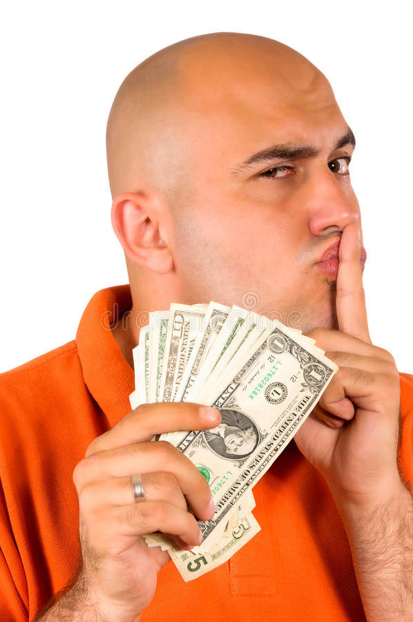 Stealing money stock photography