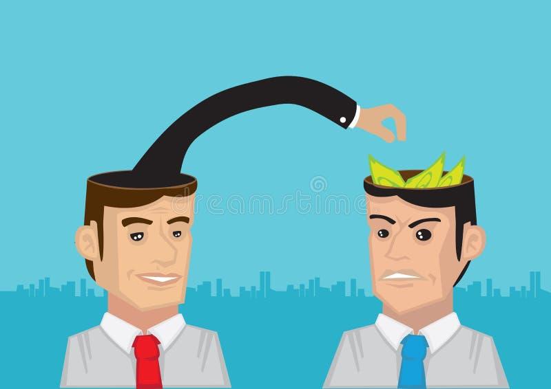 Stealing Voordelige Ideeën stock illustratie
