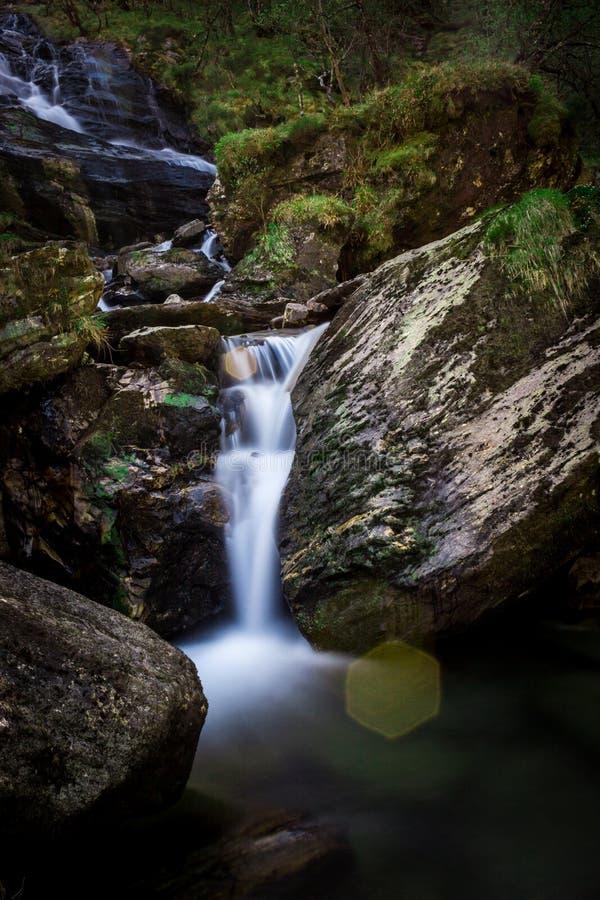 Steall Falls in Scotlands Highlands. stock photos