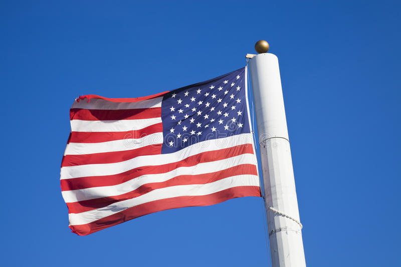 Stealth antennas in flag pole royalty free stock photo