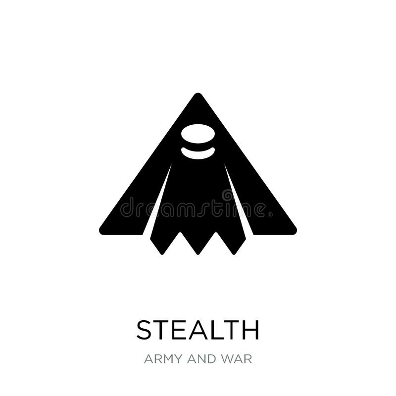 Stealth icon in trendy design style. stealth icon isolated on white background. stealth vector icon simple and modern flat symbol. For web site, mobile, logo stock illustration