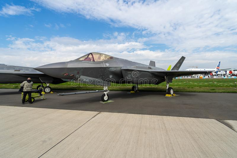 Stealth multirole fighter Lockheed Martin F-35 Lightning II. royalty free stock images