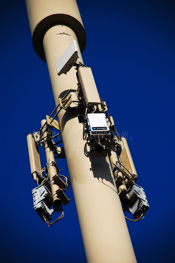 Stealth Wireless Communication Pole. For Cellular Phones stock photos