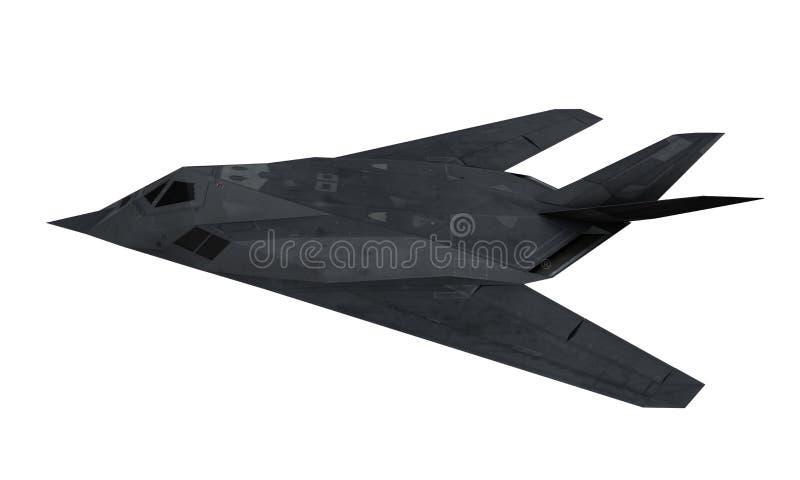 Stealthkämpeflygplan stock illustrationer