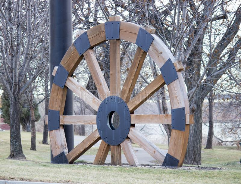 Steam boat wagon wheel stock photography