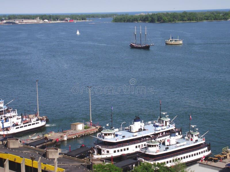 Steam boats, Lake Ontario, Downtown Toronto, Ontario, Canada. Tourist public or passenger vintage steam boats of Lake Ontario, Downtown Toronto, Ontario, Canada stock images