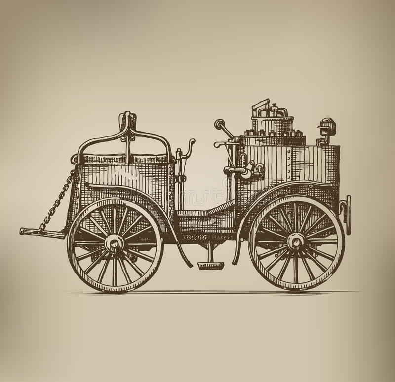 Steam car stock illustration