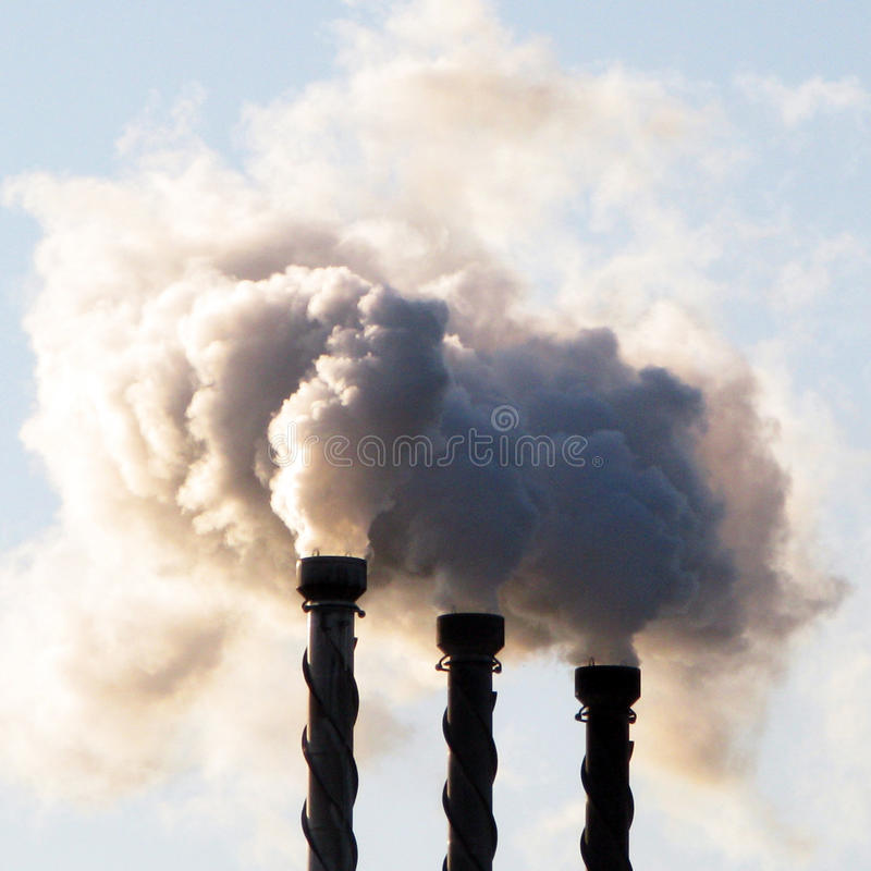 Free Steam Chimneys. Stock Photography - 57990972