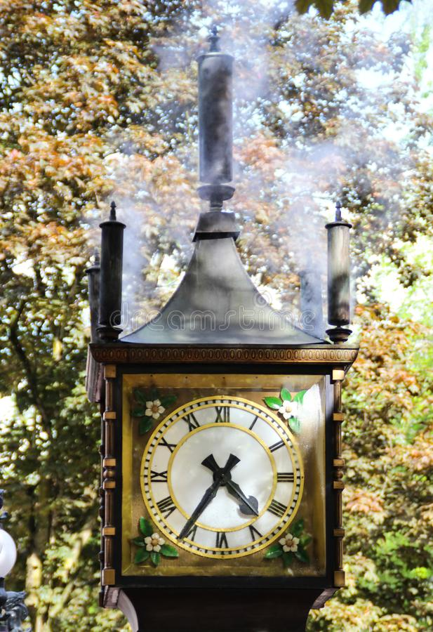 Steam clock. In Gastown Vancouver, Canada stock images
