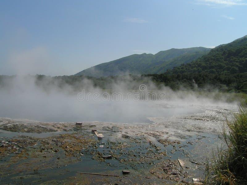 Hot water springs in the Semliki National Park, Uganda royalty free stock image