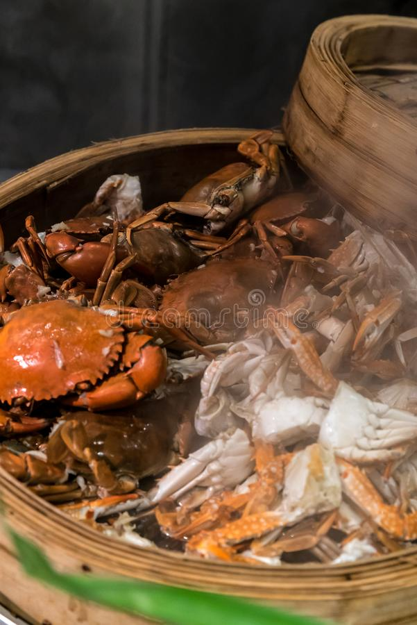 Steam crab royalty free stock images