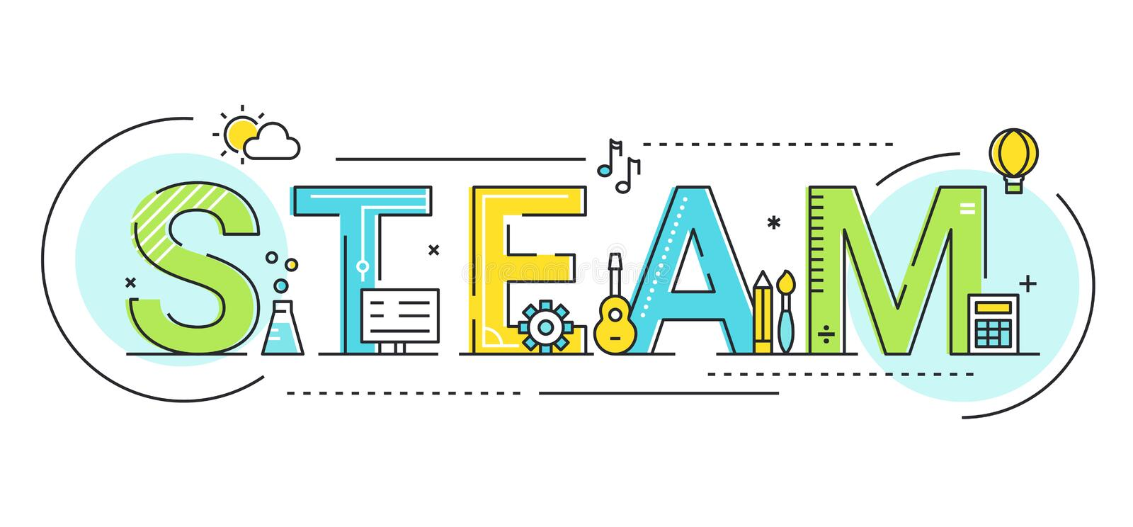 Steam Education Approach Concept Vector Illustration royalty free illustration