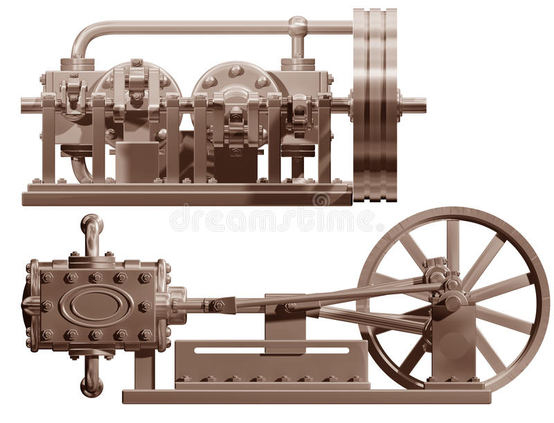Download Steam Engine Front And Side Stock Photo - Image: 12585544
