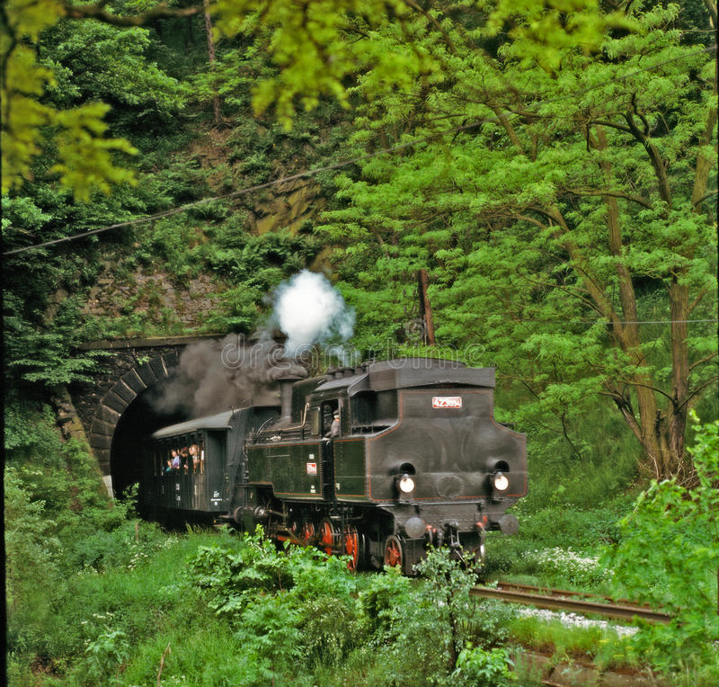 Download Steam Engine Going From Tunnel Stock Image - Image: 25572677