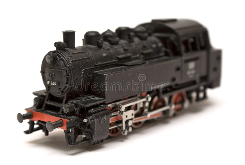 Steam Engine Model (Side View) stock image