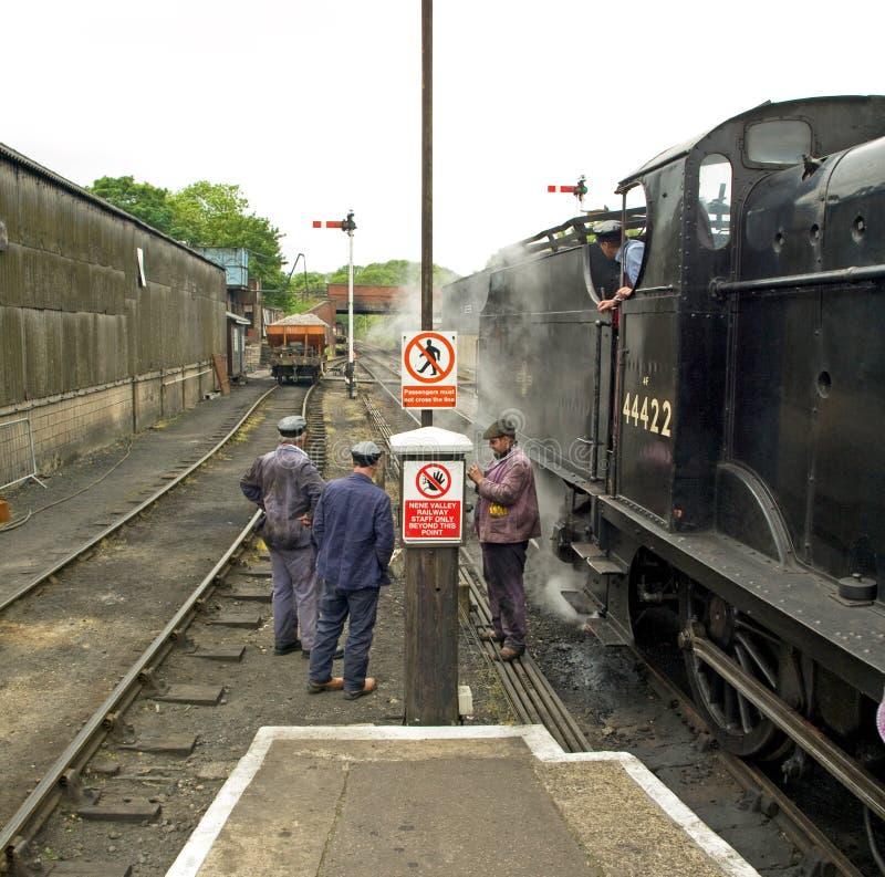 Railway Crew Nene Valley Railway stock photos