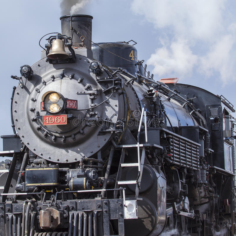 A steam engine sits on display in Williams, USA. A steam engine sits on display in Williams, USA royalty free stock photo