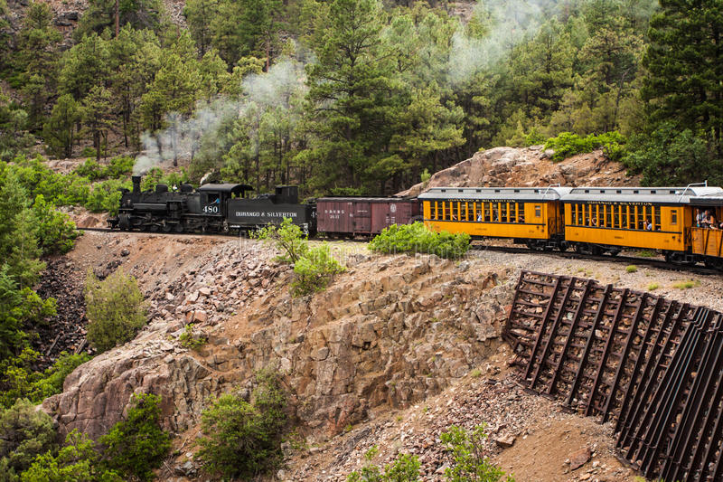 Download Steam Engine Train In Mountains Editorial Image - Image: 26173770