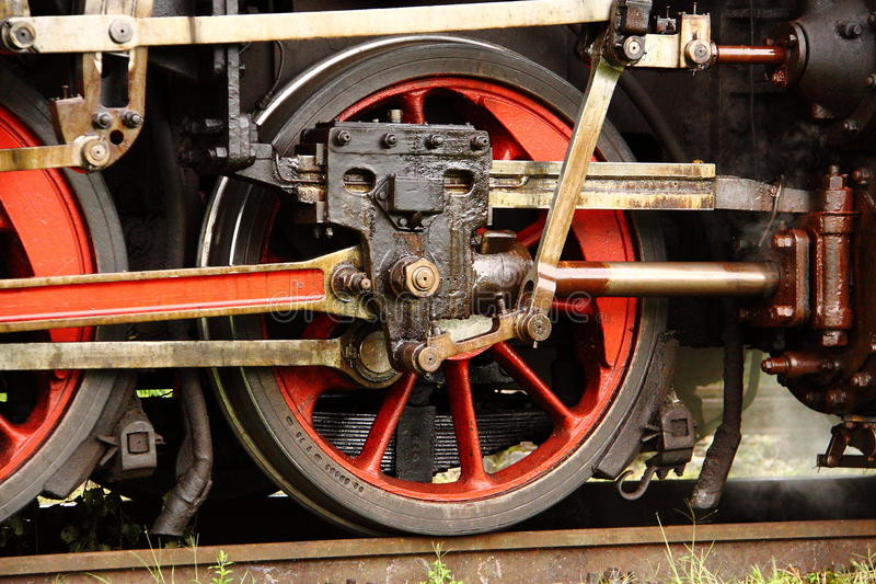 Download Steam engine wheel stock image. Image of motion, smoke - 21983047