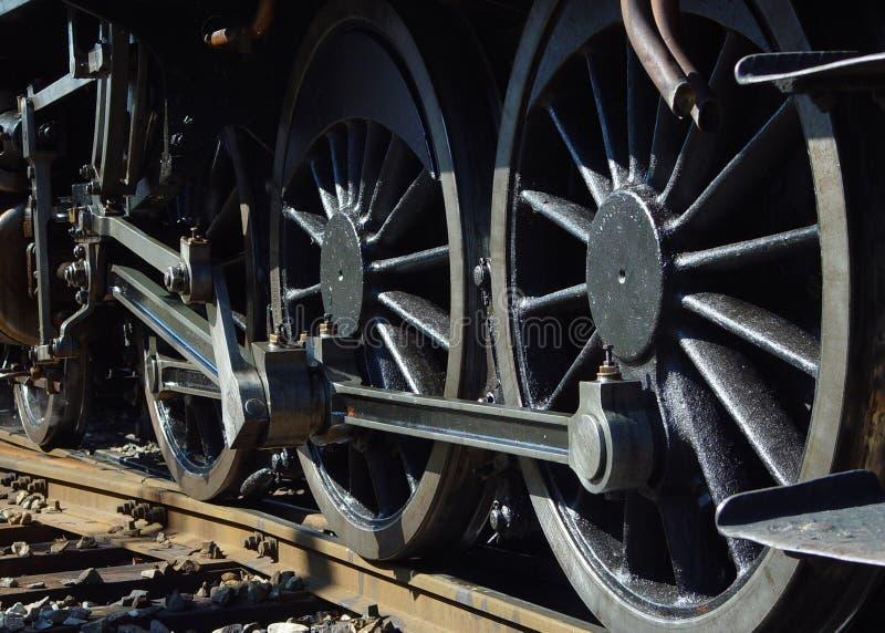 Steam engine wheels stock photo